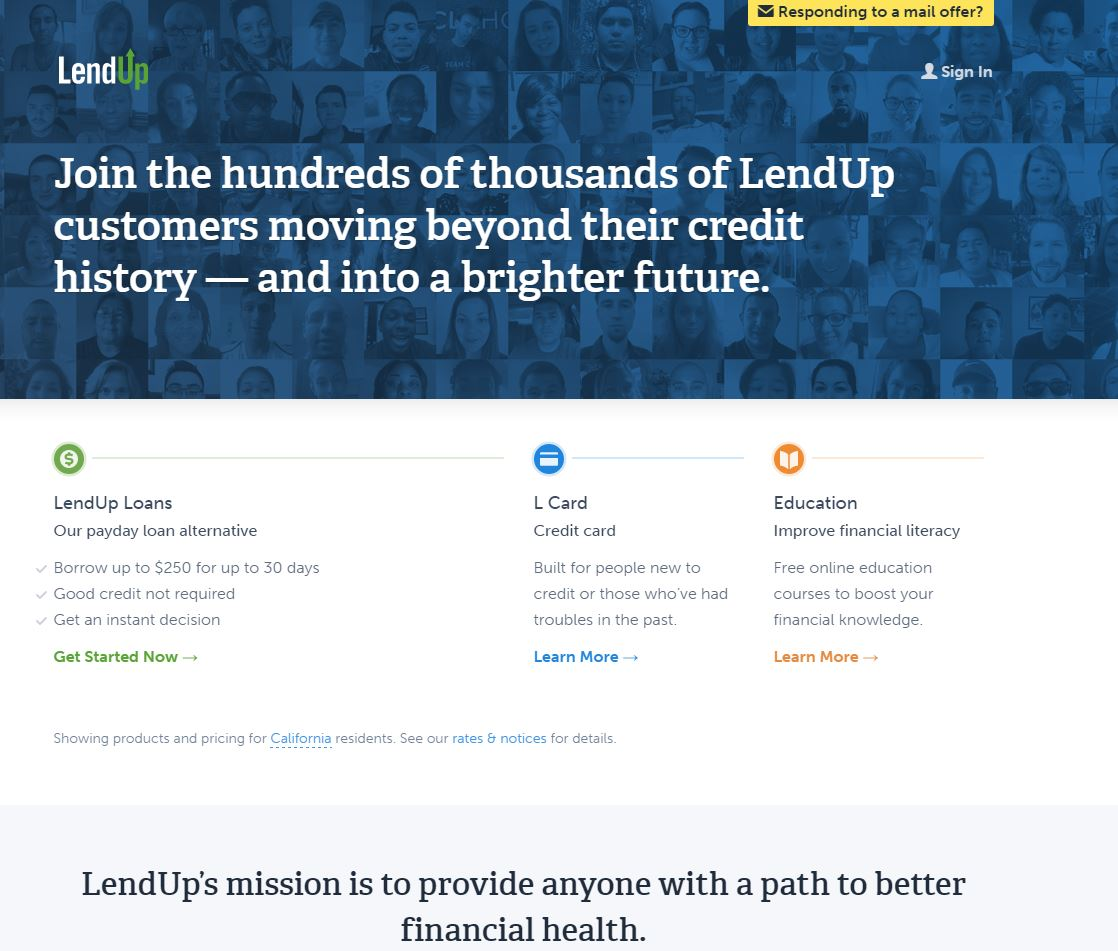 LendUp Website Screenshot