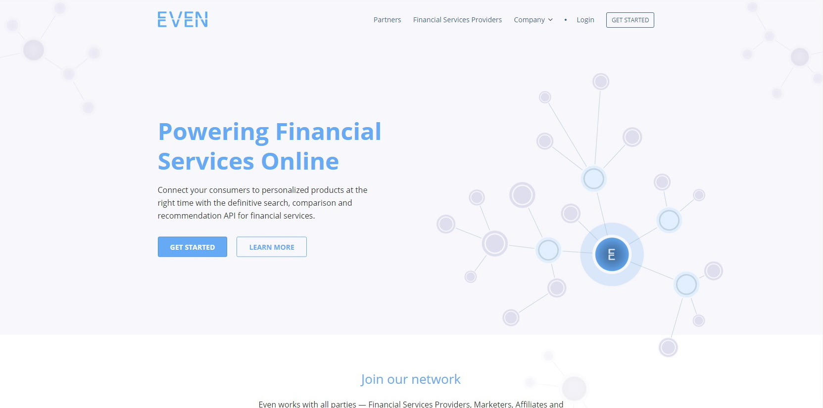 Even Financial Website Screenshot